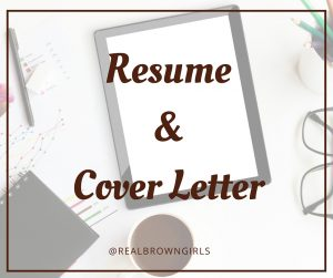 Resume & Cover Letter_Real Brown Girls